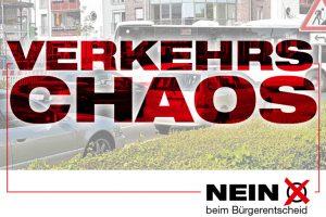 Verkehrschaos: NEIN